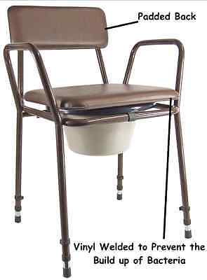 New Aidapt Essex Height Adjustable Commode Chair With Removable Pail