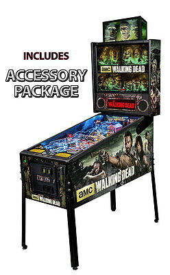 Stern Walking Dead Premium Pinball with Accessory Package