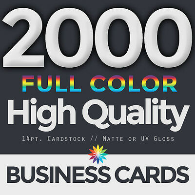 2000 Full Color Business Cards Both Sides FREE DESIGN & FREE SHIPPING