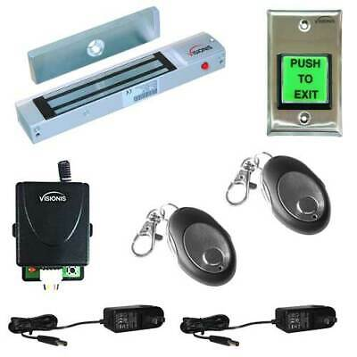 Access Control Entry 300lbs Magnetic Lock with Wireless Receiver and Remote Kit