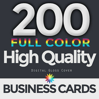 200 Full Color Business Cards Both Sides FREE DESIGN & FREE SHIPPING