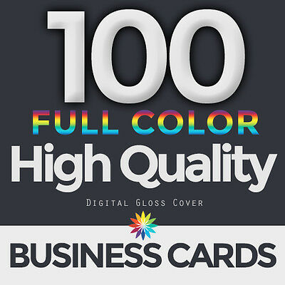 100 Full Color Business Cards Both Sides FREE DESIGN & FREE SHIPPING