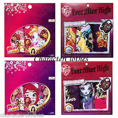 New Girls Character MIA AND ME/ EVER AFTER HIGH 3pk Briefs Kids Underwear 2-12Yr