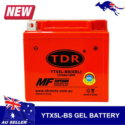 12V Motorcycle Motorbike Battery YTX5L-BS YTX5LBS YTZ7S EQUIV TO MBTZ7S