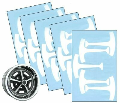 1967-76 FORD Mustang 14 & 15 Magnum 500 Wheel Paint Mask Stencil Kit Set