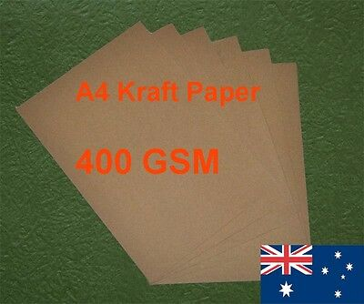 10 X A4 Kraft Paper Brown 400GSM All Wood Pulp Made