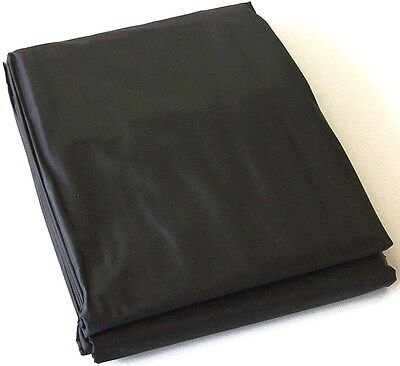 BLACK PVC Pool Snooker Billiard Table Cover for 8' ft x 4' ft pool table