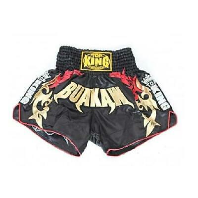 TOP KING BUAKAW Muay Thai Fighting Kickboxing Boxing Shorts Black Adult Youth