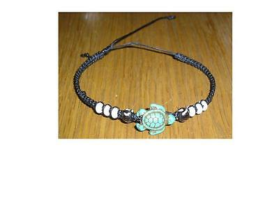 New Waxy Turtle Design Turquoise Coloured Wristband Ethnic / Tribal Quality