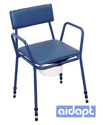 Aidapt Height Adjustable Commode Chair Incontinence Toilet Mobility Disability
