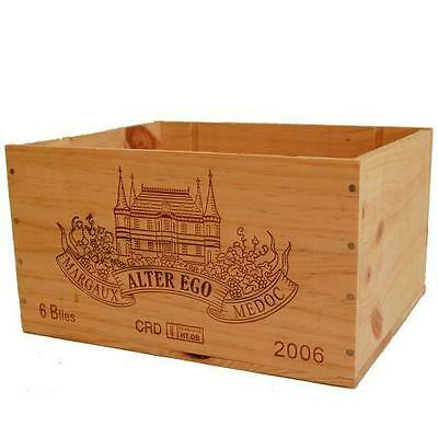 1 X Genuine French Wooden Wine Box - Craft Supplies Box / Sewing /  Card Candle