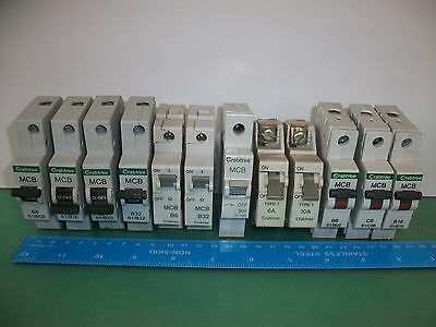 Crabtree MCB Circuit Breaker Fuse (Several Sizes 6A 10A 16A 20A 32A 40A)