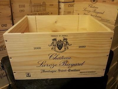 Marked Seconds- 6 Bottle Size French Wooden Wine Crate Box Hamper Storage.