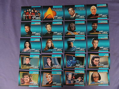 Star Trek The Next Generation Inaugural Edition Impel 1992 120 Card Set See Pics