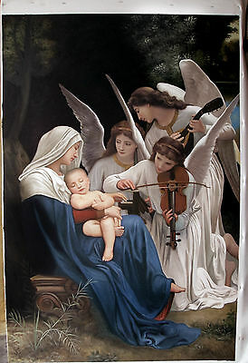 Ölbilder Ölgemälde Angels Playing Violin von  Adolphe William Bouguereau 60x90cm