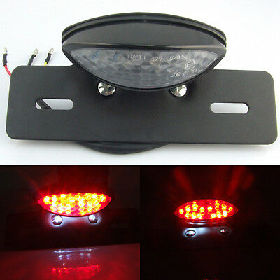 Universal LED Motorcycle Bike Rear Tail Brake Stop Number License Plate Light