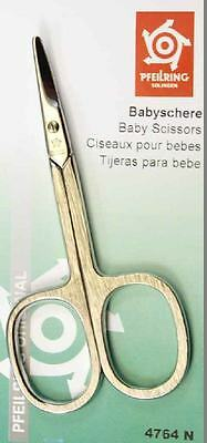 Pfeilring 4764N Baby/Eyebrow/Diabetic Scissors Large Ring Brushed Nickel-Plated