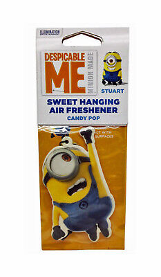 Minions Air Freshener Stuart - Candy Pop - Despicable Me Hanging Card Freshner