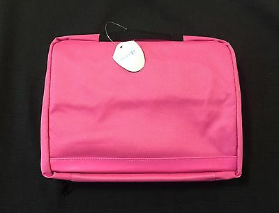 Cookie Lee Fild Up Pink Canvas Rolling Storage Bag Collapsing Wheels New