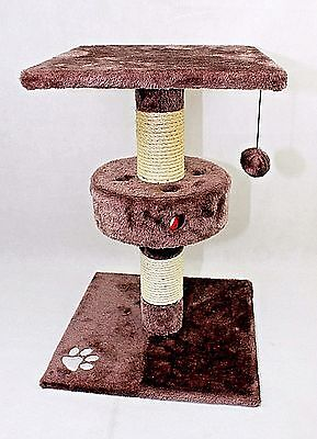 Large Cat Pet Scratch Post Scratching Tree Scratcher Sisal Rope Ball Chewing Toy