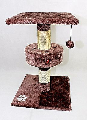 cat Kitten Sisal Scratching Post Large 60cm with tall interactive cat toys