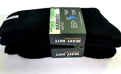 6 Pairs Premium Thick 92% Bamboo Work Heavy Duty Socks  6-11,11-14