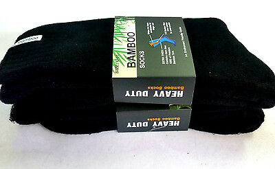 6 Pairs Thick 92% Bamboo Cushion Socks for Walking, Boot, Work 6-11,11-14