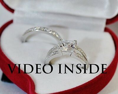 2.85CT Princess Cut Engagement Ring Wedding Diamond Ring Made in italy D G