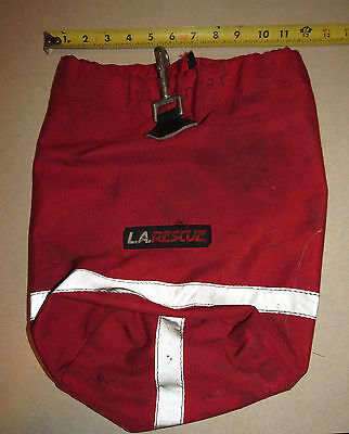 Canvas Red Fire Fighting Personal Gear Bag Authentic L.a. Rescue