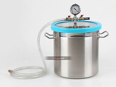 5 Gallon Stainless Vacuum Degassing Chamber Resin Silicone Epoxy Extract Solvent
