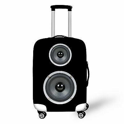 """Black Clear Elastic Spandex Protector Dust-proof Luggage Suitcase Cover 20""""-30"""""""