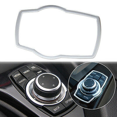 Silver Interior Multimedia Buttons Cover Trim For BMW 1 3 4 5 7 Series X3 X5 X6