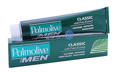 3 X Palmolive Classic Lather Shave Shaving Cream 100Ml. With Palm Extract.
