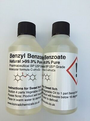BUY ONE GET ONE FREE!! 100ml Benzyl Benzoate 99.9% 2x100ml (200ml)