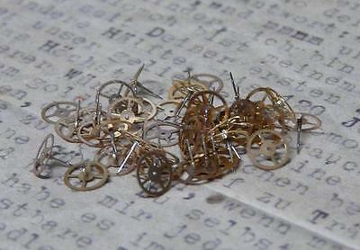 Steampunk Watch Cogs Gears Gold Cogs 5mm x 1GM Pack Approx 40PC