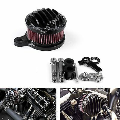 Air Cleaner Intake Filter System Kit Pour Harley Sportster XL883 XL1200 88-15 BK