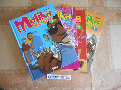 Eldoradodujeu > Lot Collection Bd Malika Secouss 1-2-3-4 - Glenat Tbe **