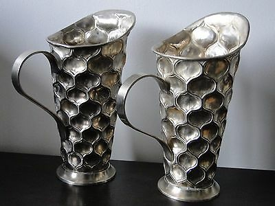 Silver Plated Jugs, Art Deco Style, Very Stylish.  Christopher Dresser Influence