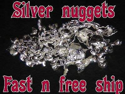 BUY ONE GET ONE FREE (RARE) SILVER  NUGGETS - .9999  4x PURE Investment Grade
