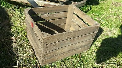 European Vintage Wooden Apple Fruit Crates Rustic Old Bushel Box Shabby Chic .