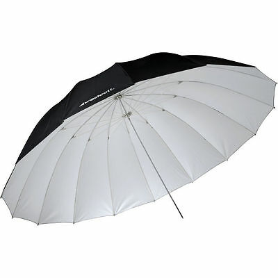 Westcott 4634 7' Parabolic Umbrella (White / Black)