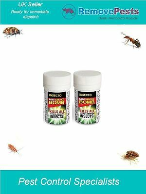 Bed bug killer poison smoke fogger bombs bedbugs, moth, weevils, spiders IN