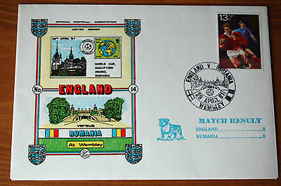 England v Romania World Cup 1981 Football Association Cover