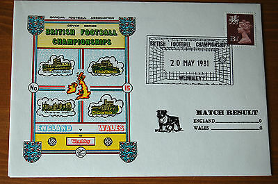 England v Wales British Championships 1981 Football Association Cover