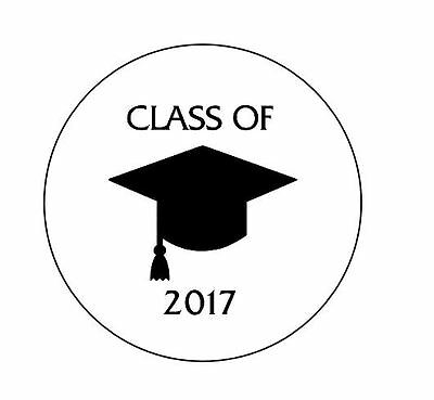 "Personalized Class of 2018 Graduation 1"" Round Envelope Seals Custom Labels"
