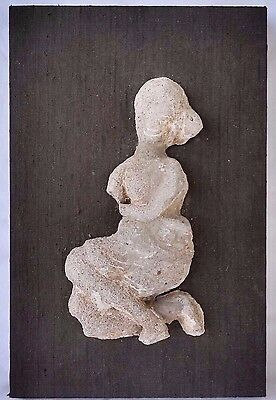 Ancient Artifact Female Carved Figure Indonesia, Java, Mounted