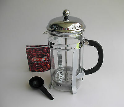 French Press Tea Infusion Coffee Maker Pot Plunger Percolator - 1000ml (8-Cup)