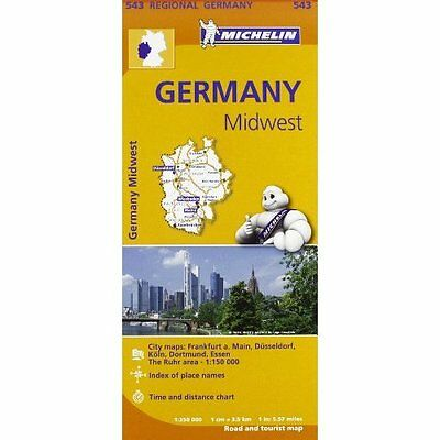 Germany Midwest Michelin Editions des Voyages Sheet map folded 9782067183605