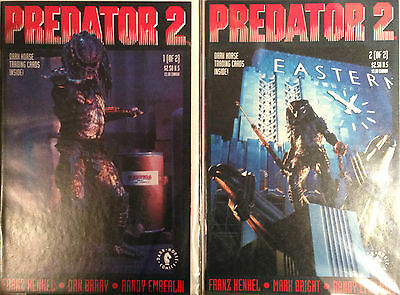 Predator 2 #1-2 Set NM- 1st Print Free UK P&P Dark Horse Comics Movie Tie-In