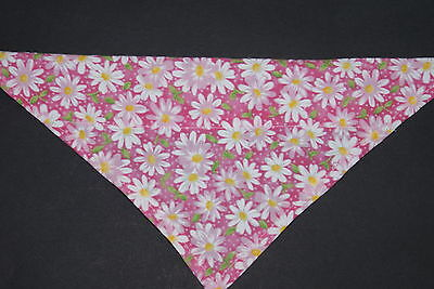 Dog Bandana, OVER THE COLLAR,clothes, pet, Size S,M,L,XL, Pink Flowers
